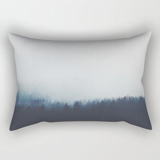 Dreary Landscape forest Rectangular Pillow