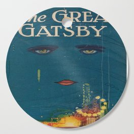 The Great Gatsby vintage book cover - Fitzgerald - muted tones Cutting Board