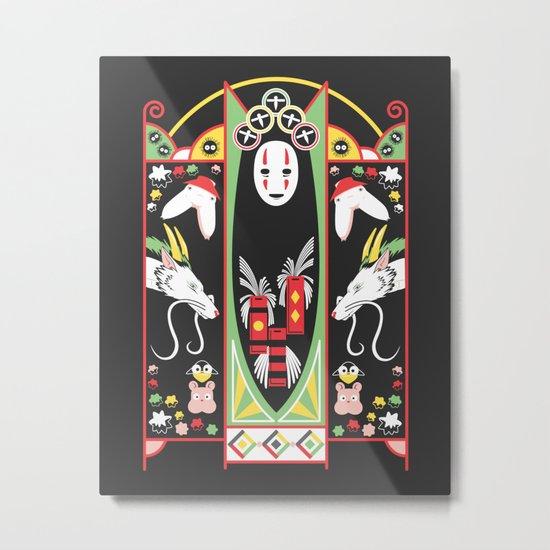 Spirited Deco Metal Print