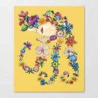 sleeping beauty Canvas Prints featuring Sleeping Beauty by Shelley Ylst Art