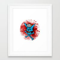 there will be blood Framed Art Prints featuring blood by KillGorgons