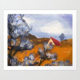 California Rolling Hills Art Print
