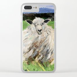 Big fat woolly sheep Clear iPhone Case