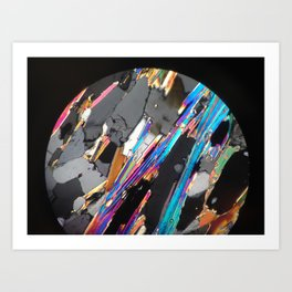 Minerals in abstraction Art Print