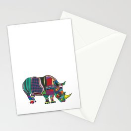 Abstract Rhino Stationery Cards