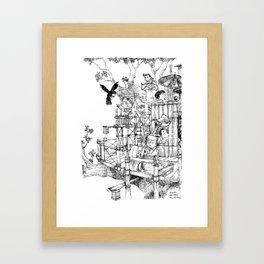 La Cabane Idéale / The Ideal Cabin Framed Art Print