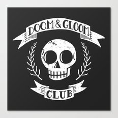 Doom & Gloom Club (grunge) Canvas Print