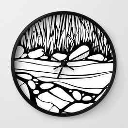 By the River 1 Wall Clock
