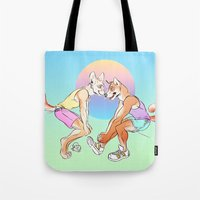 sport Tote Bags featuring Sport Shibe by furious-teapot