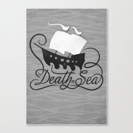 DEATH AT SEA Canvas Print