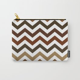 Shades of Brown Chevron Pattern Carry-All Pouch
