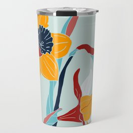 Mid Century spring flowers Travel Mug