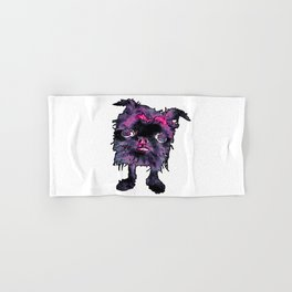 Lugga The Friendly Hairball Monster For Ghouls Hand & Bath Towel