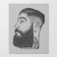 la Canvas Prints featuring LA by TRUJI