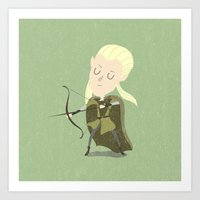 legolas Art Prints featuring Legolas by Rod Perich