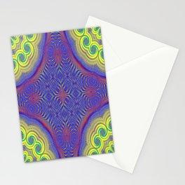 041_fractal_8x8_kaleidoscope_seamless_01 Stationery Cards
