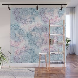 Mandalas Clouds of Cotton Candy Wall Mural
