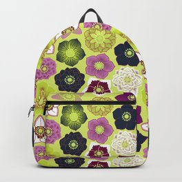 Hellebores (Winter Rose) - Chartreuse Backpack