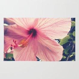 Hibiscus in the Rain Rug