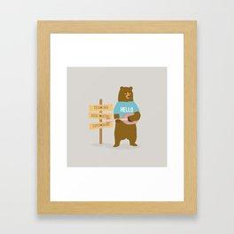 Time for music, bear Framed Art Print