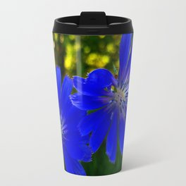 Blue flowers. Travel Mug