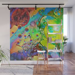 Cosmic girl Wall Mural