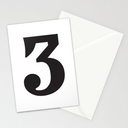 Prime number three / minimalist design / typography Stationery Cards