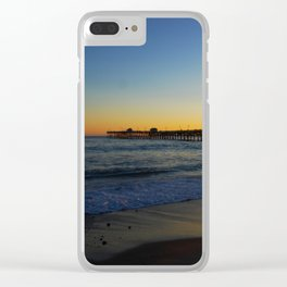 San Clemente Ca pier sunset Clear iPhone Case