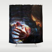 men Shower Curtains featuring X men by Luca Leona