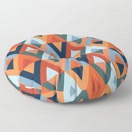 Colorful rhombuses and triangles pattern Floor Pillow