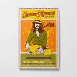 George 1974 Harrison Concert Metal Print
