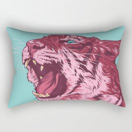 Magenta tiger Rectangular Pillow