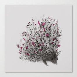 HEDGEHOG (grey) Canvas Print