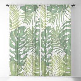 Tropicalist Monstera Sheer Curtain