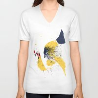 animal crew V-neck T-shirts featuring Animal by Arian Noveir