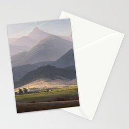 Caspar David Friedrich - View of the Small Sturmhaube from Warmbrunn Stationery Cards