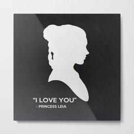 I Love You - V2 Metal Print