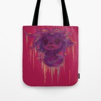 hiccup Tote Bags featuring Hiccup by Satu Mitsumi