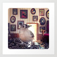 Tufted Titmouse in the House Art Print