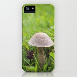 Mushroom in the Morning Dew by Althéa Photo iPhone Case