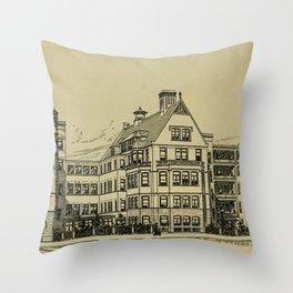 Wesley Hospital 1888 Throw Pillow