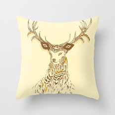 Tribal Deer Throw Pillow