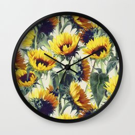 Sunflowers Forever Wall Clock