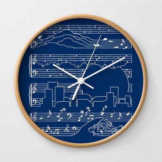 The Moonlight Sonata Blue Wall Clock