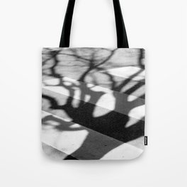 zebra crossing, tree shadow Tote Bag