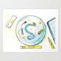 Nematode Simone Art Print