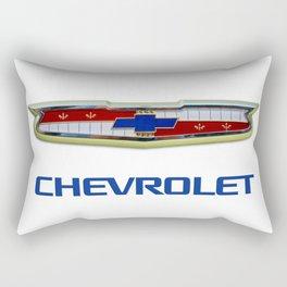 Vintage Bel Air Chevron Emblem Badge Sharp PNG with GM Cobalt Blue Text Rectangular Pillow
