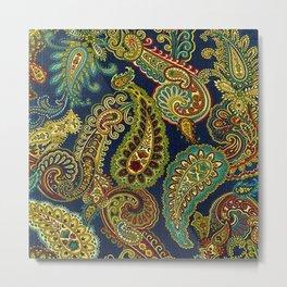 Floral Paisley Pattern 05 Metal Print