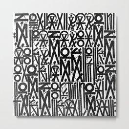 TYPO--ART Metal Print