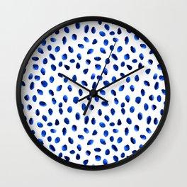 Seeing Blue Spots Wall Clock